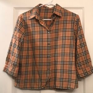 Burberry Kids Classic Flannel Button Up